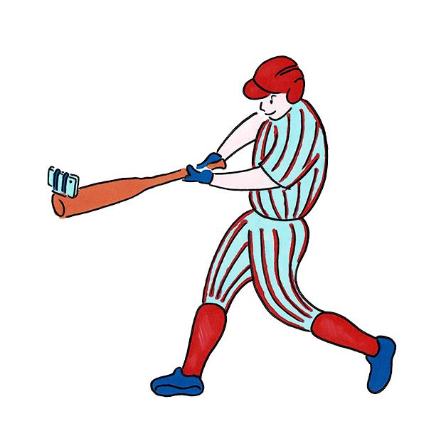 The U マンガ 野球 セルフィー