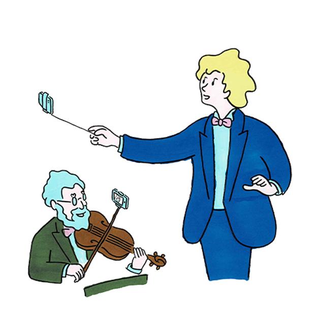 The U マンガ 指揮者 セルフィー