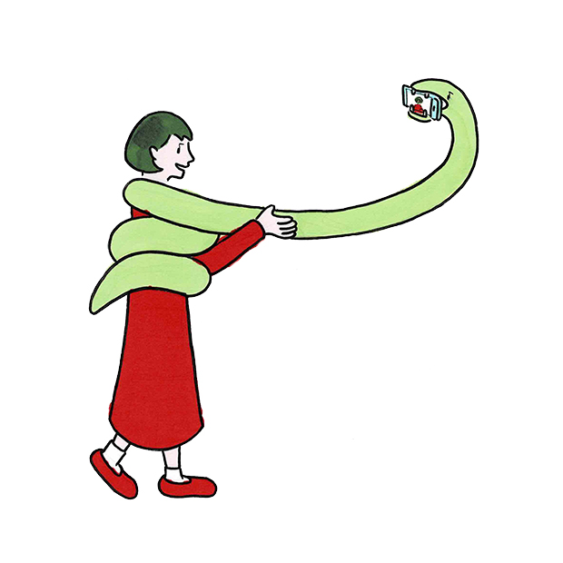 The U マンガ 蛇 セルフィー
