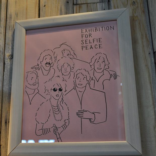 マスダヒロシ ビオ オジヤンカフェ イラスト 個展 hiroshi masuda selfie exhibition