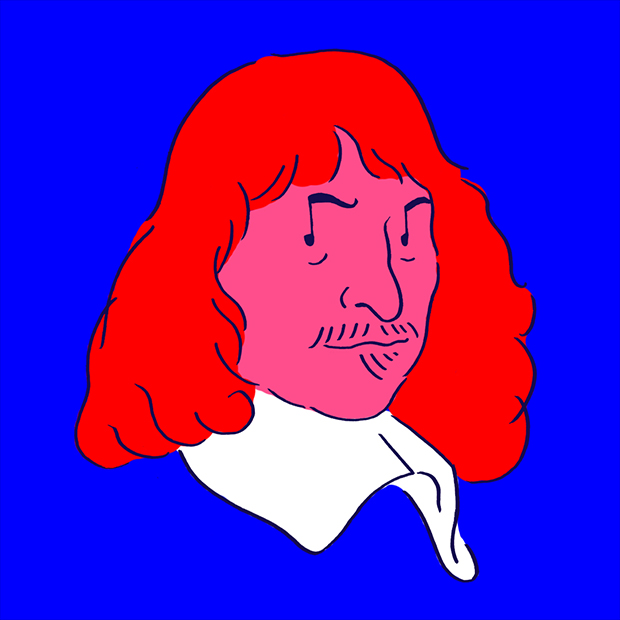 """René Descartes """"Whenever anyone has offended me, I try to raise my soul so high that the offense cannot reach it."""" デカルト「だれかが僕の感情を害するとき、悪意が届かないように自分の魂を高く上げるんだ」"""